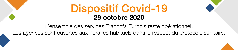 COVID 19 communiqué Francofa Eurodis